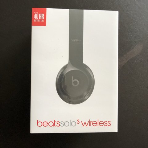 Casque Beats Solo 3 Wireless Noir Black Neuf Sous Blister Depop