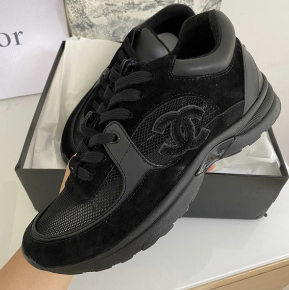 CC Chanel Inspired Mesh Trainers Very