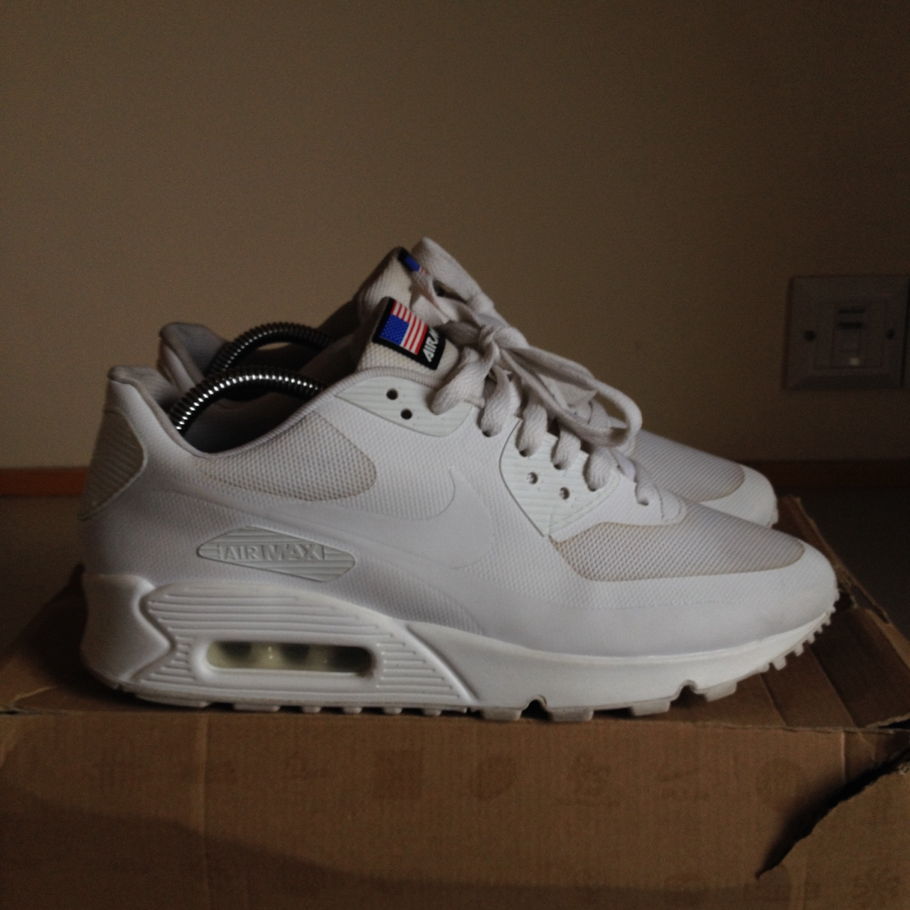 buy popular 8a0ff 3355d Nike air max 90 Independence Day in white. UK 7.... - Depop