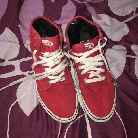 ❤ RED VANS    HIGH TOPS    SKATE SHOES ❤ • So cute and In - Depop 14a528107