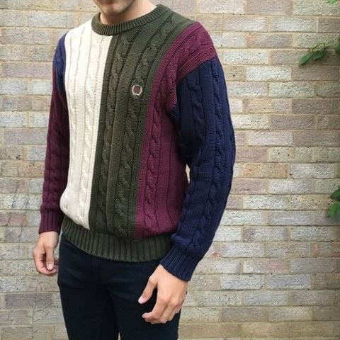 1f394e262 @dsgnclothing. 2 years ago. Northampton, UK. Vintage Tommy Hilfiger Cable  Knit • 8/10 Cond.