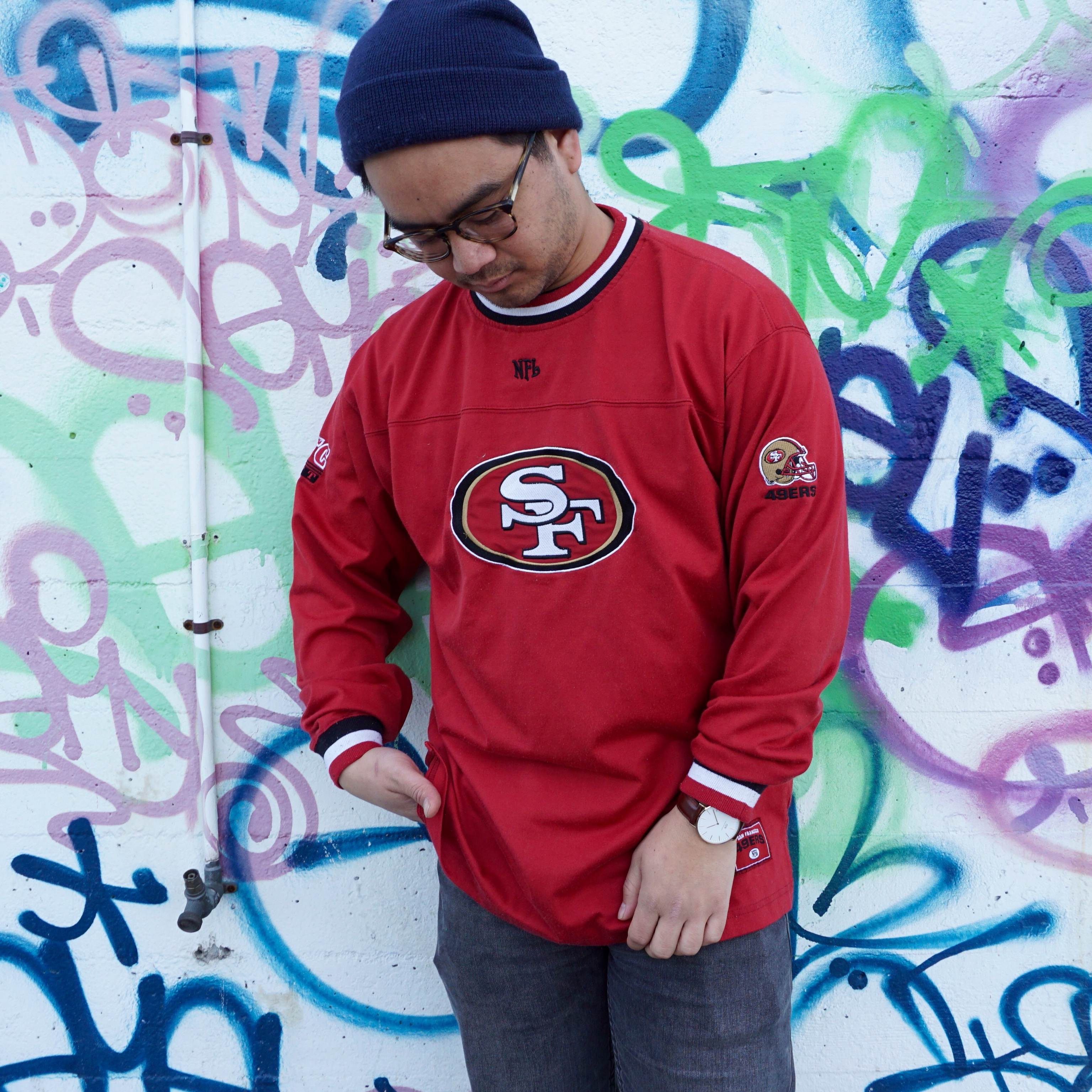sports shoes f97af a2143 Vintage San Francisco 49ers Hockey Style Jersey ... - Depop