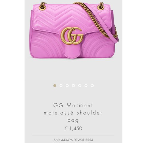 449fad431c4e @alessiam1. 2 years ago. London, United Kingdom. BNWT Brand New Authentic Gucci  GG Marmont pink chain handbag. Never been used. Comes with dust bag ...