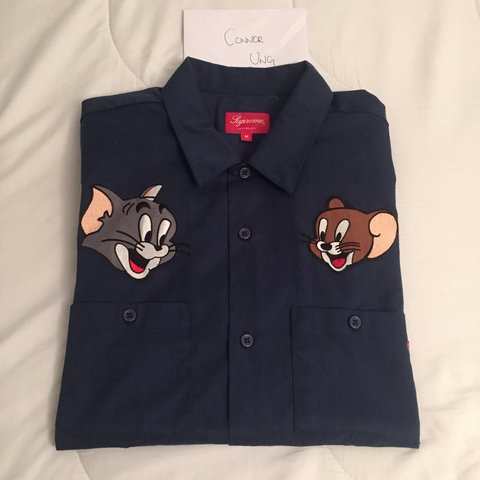 Connor Ung 3 Years Ago Kingston Upon Thames Greater London Uk Supreme Tom And Jerry Work Shirt
