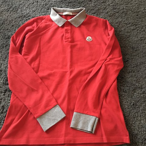 655746bbc @nic_star. last year. Aberdeen, United Kingdom. Boys Moncler long sleeved  polo. Age 14, worn but ...