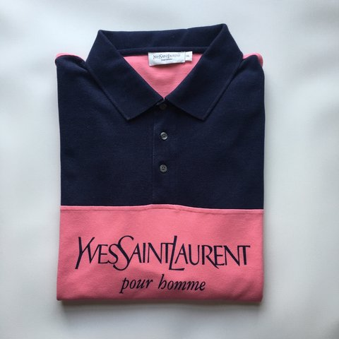 8b034a67a @openoutfit. 3 years ago. Exeter, Exeter, Devon, UK. Men's Yves Saint  Laurent YSL Logo Polo Shirt ...