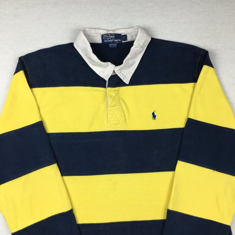 a6151331d8e @openoutfit. 3 years ago. Exeter, Exeter, Devon, UK. Men's Ralph Lauren  Striped Rugby Polo Shirt ...