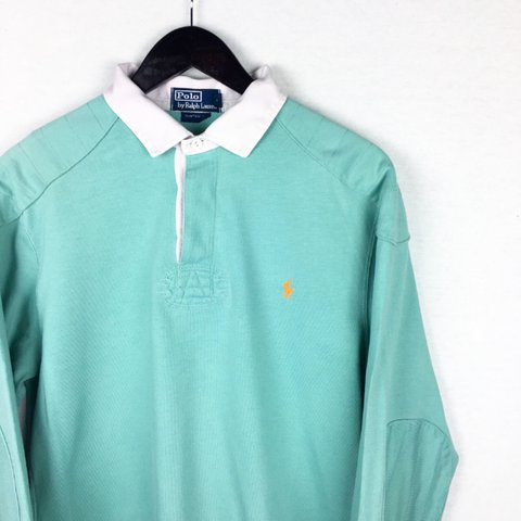 26148d1d68c @openoutfit. 2 years ago. Newton Abbot, United Kingdom. Ralph Lauren® Rugby  Polo Shirt | Tiffany Green / Orange / White ...