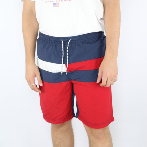 fdbe7d3460 @openoutfit. 2 years ago. London, UK. Tommy Hilfiger Trunks Vintage Flag Swim  Shorts ...