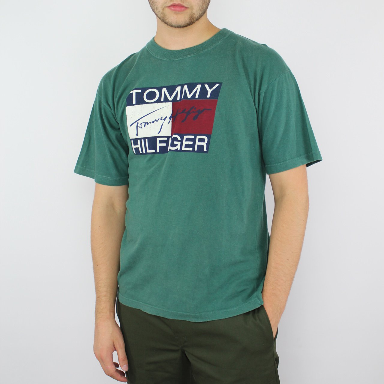 6e5f1efb @openoutfit. 2 years ago. Newton Abbot, United Kingdom. Tommy Hilfiger 90s  Flag T-Shirt ...