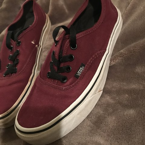 aa0b3b0a9ff3ff Maroon Vans with Black Laces only worn a few times years i - Depop