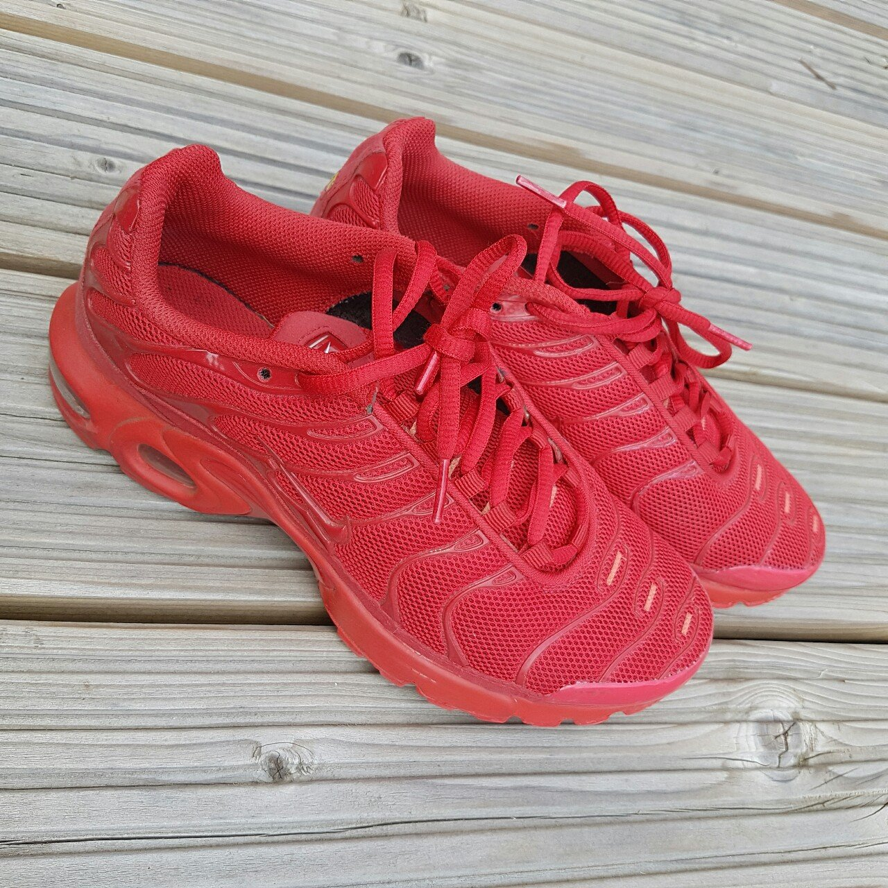 sports shoes 8a761 25fe8 Nike Tuned 1s BACK IN STOCK Red SOLD OUT Nike TN 1 Used, - Depop