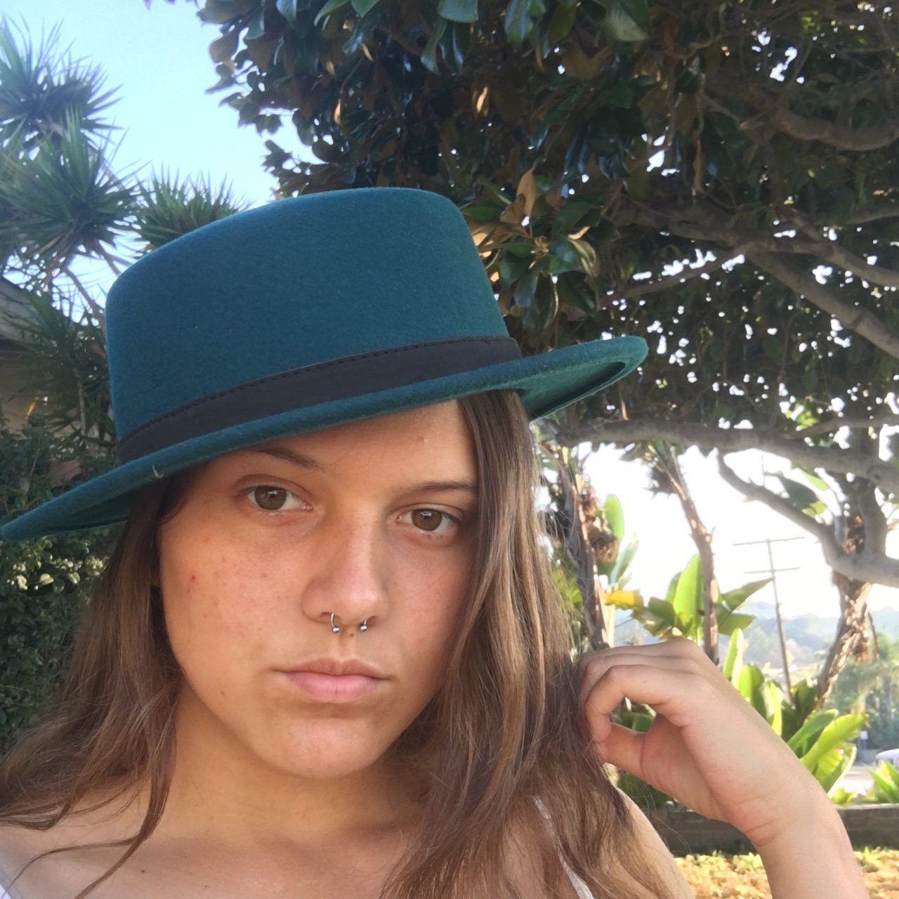 Beautiful Brixton Boater hat (say that 5 times fast!) teal  358343ab29d