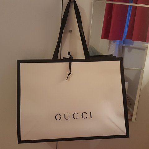 40f21ddb000 Gucci bag Gucci paper bag from gucci store. Medium size. for - Depop