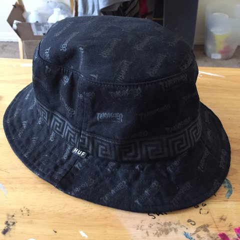 3010caf88f3 Thrasher  Huf Stoops Asia tour bucket hat