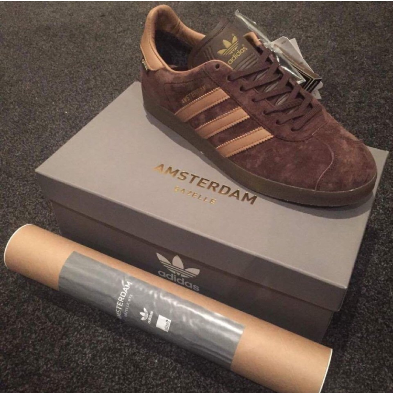 Adidas Amsterdam gazelle goretex poster. Offers only.