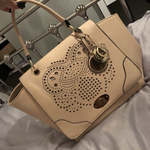 faf07f901 Nude Versace hand bag, brought for me as a present about a a - Depop