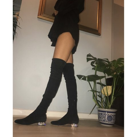 3f429505328 Amazing sexxxy miu miu by Prada over the knee suede boots. a - Depop