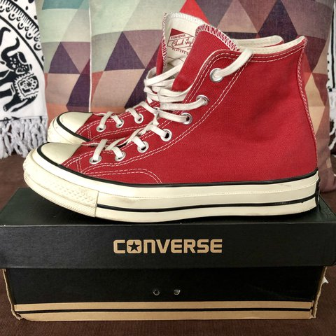 c7d5c830228 Converse All Star Chuck Taylor 70s High UK 6 Crimson but in - Depop