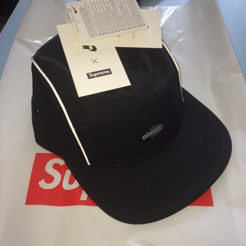 757fba960b6 Supreme X Nike air max running hat in black with 3m Sold out - Depop