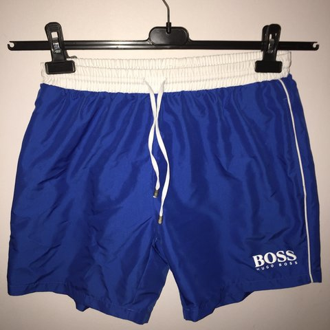 4b7e2206e3 Pair of Hugo boss shorts, blue, mint condition, real nice - Depop