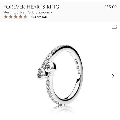 ba8e12190 @charlotteeast8. 15 days ago. Scunthorpe, United Kingdom. 💍 FOREVER HEARTS  RING PANDORA 💍