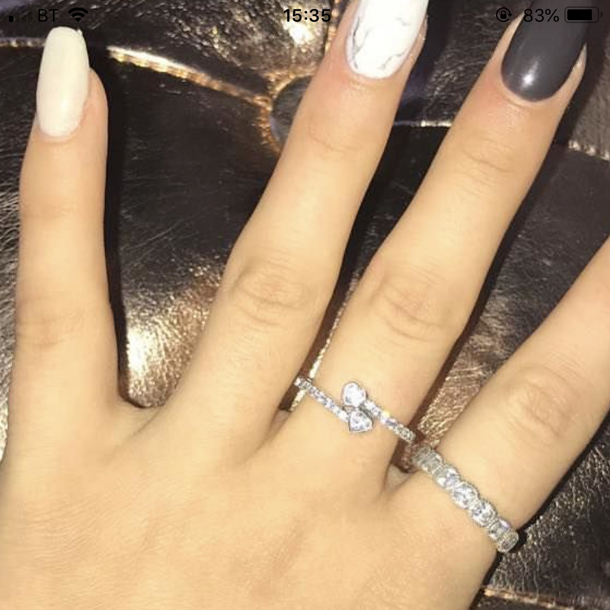 a3a33028a368a 💍 FOREVER HEARTS RING PANDORA 💍 Size 52 Barley... - Depop