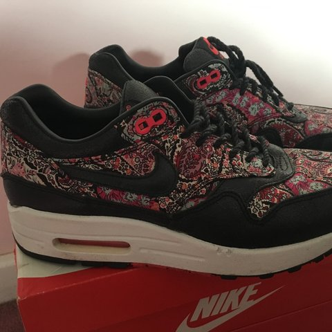 6f8e80d0b7 @meghannmoss2304. 3 years ago. St Albans, UK. Nike Air max- Solar red  Liberty London Air Max. Barely worn.