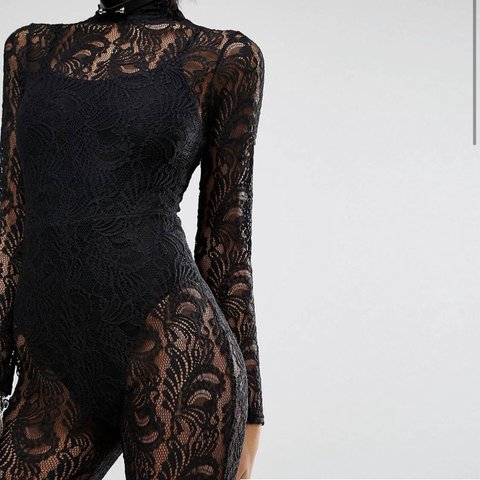 d13e2f98dc2 Missguided lace unitard catsuit size 8 worn once.  ignore - Depop