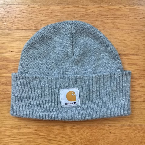 3ff17da1be1b0 Carhartt beanie. One size fits all. Light grey color. is but - Depop