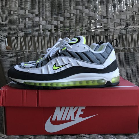 4d01328c654 spain brand new neon nike air max 98. my mans never wore these and depop ...
