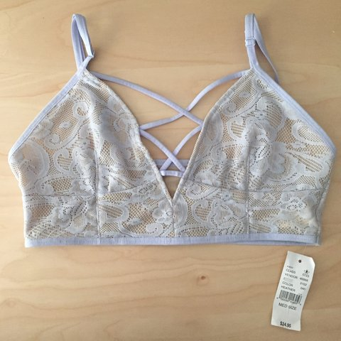 bc8dfd800f L.A. Hearts bralette. Periwinkle blue with corset lace up B - Depop
