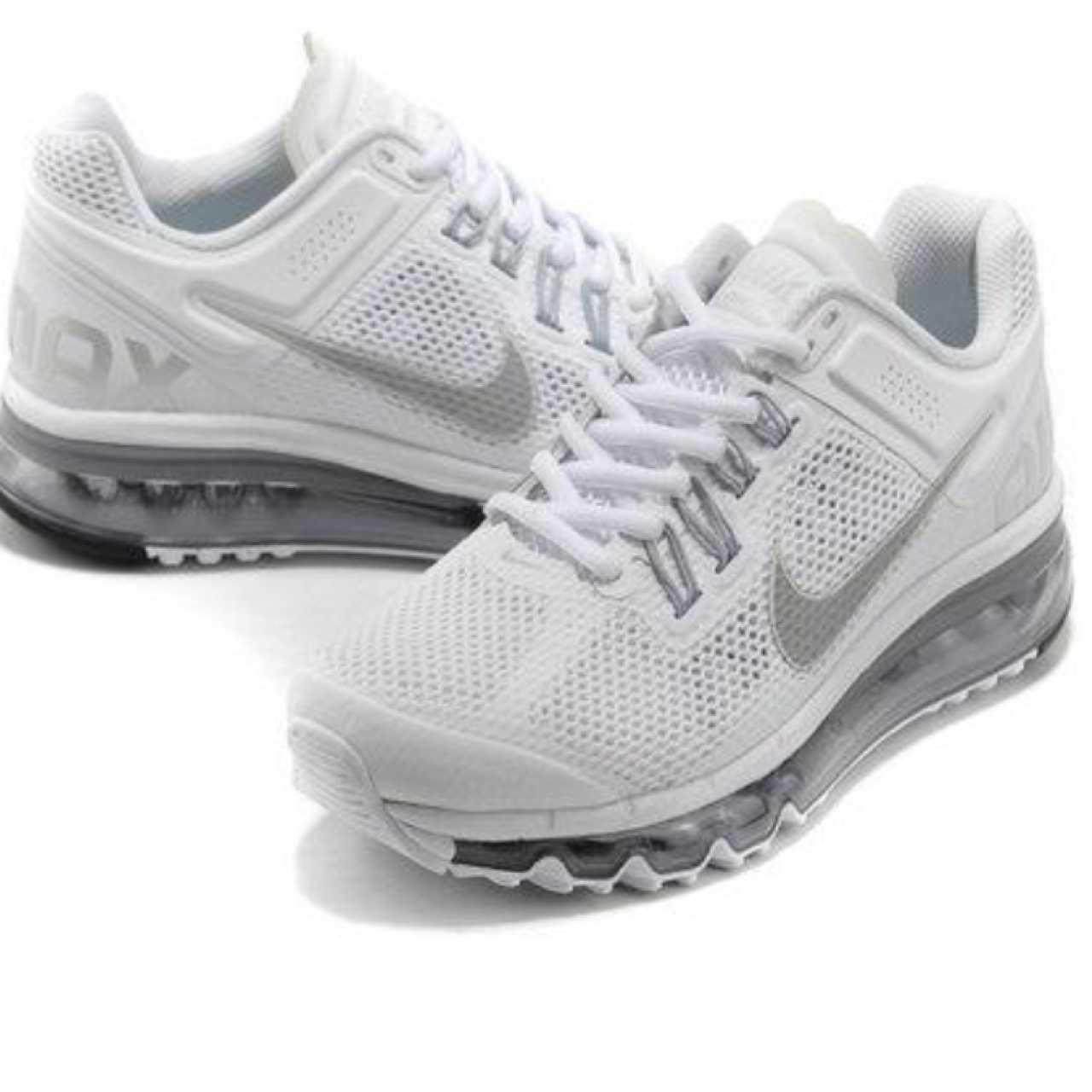 BRAND NEW NIKE AIR MAX 2013 WHITE SILVER more