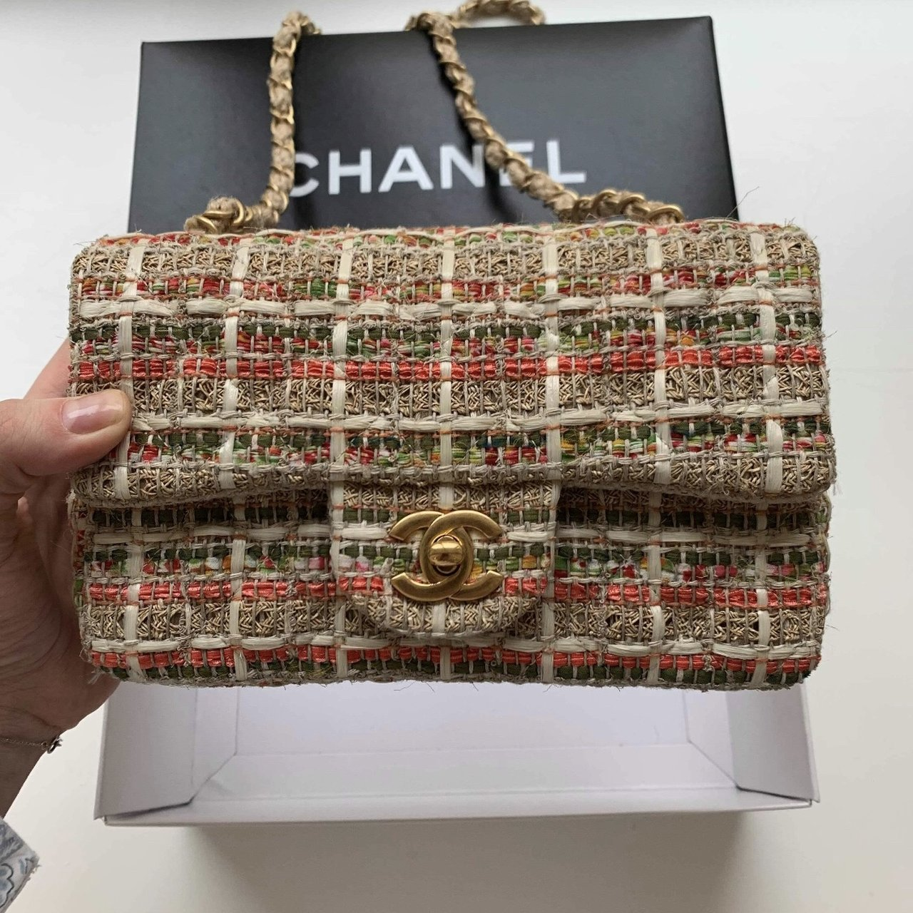 d27e83c34921 Chanel Tweed Bag. Classic and