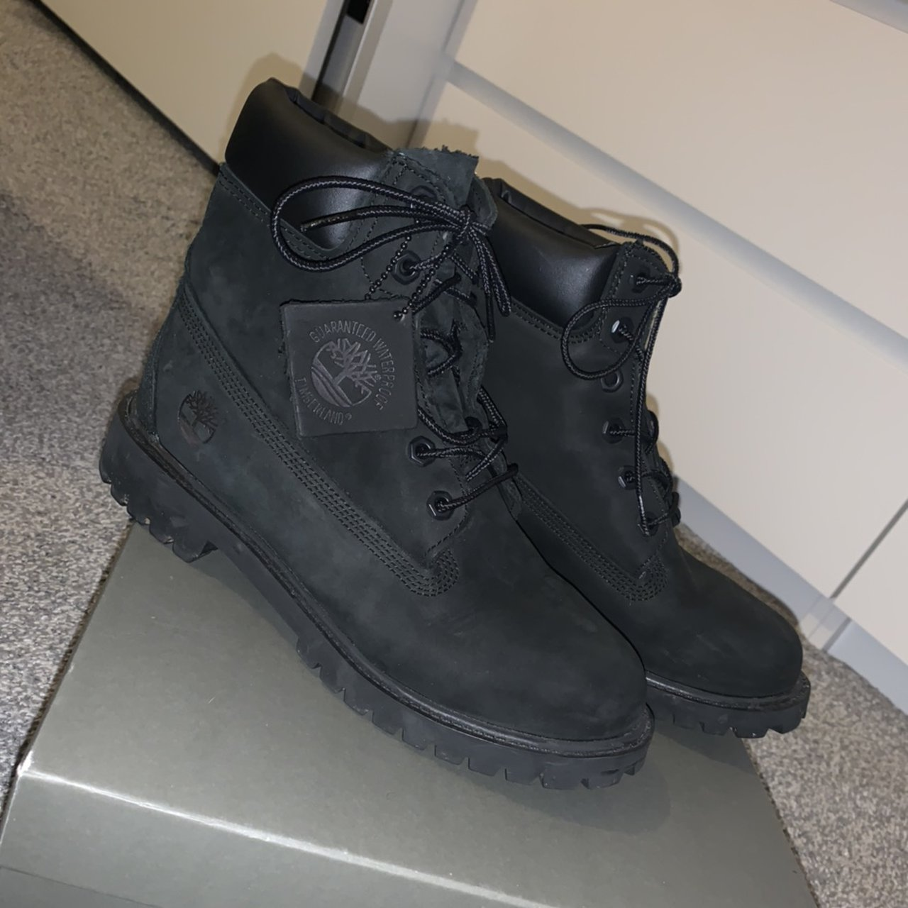 black suede Timberlands🥾 Only worn