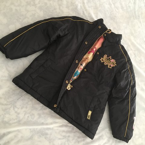 0c292d0fa9 Vintage 2000 s puffer jacket with Bratz embroidery in black - Depop