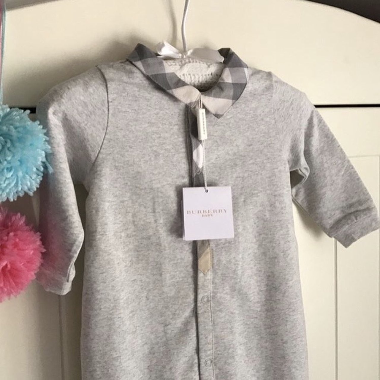 Burberry Baby grow size 6 months RRP £90  burberry - Depop 7c5bb57faba4