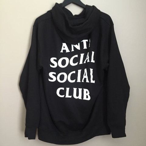 7396a8916b5b2 Anti social social club mind games hoodie size large  assc - Depop