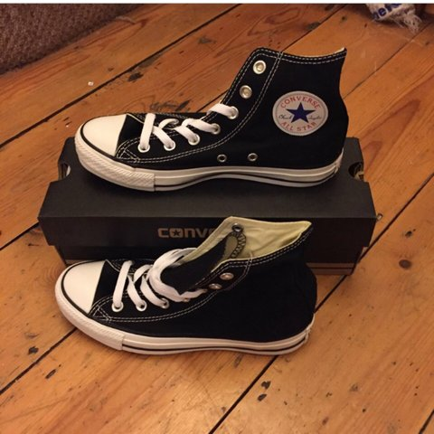 caf349b4a170 Converse All Star hi-tops - black - UK 4.5 - brand new with - Depop
