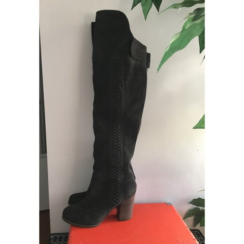 b91adb874c9 Dolce Vita thigh high charcoal suede boot. So cute! Have to - Depop