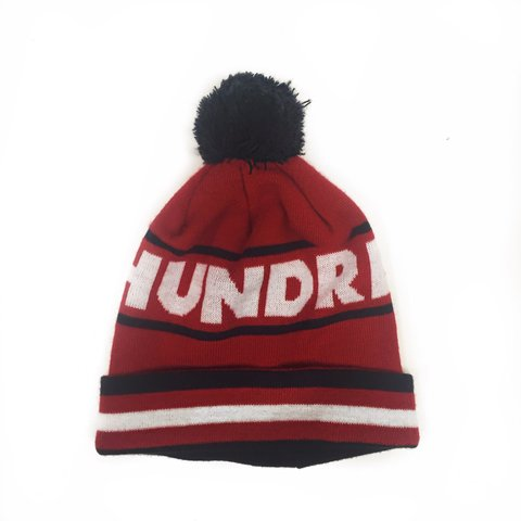 a2c2b928ced ◾️The Hundreds Tres Pom Beanie in cherry red