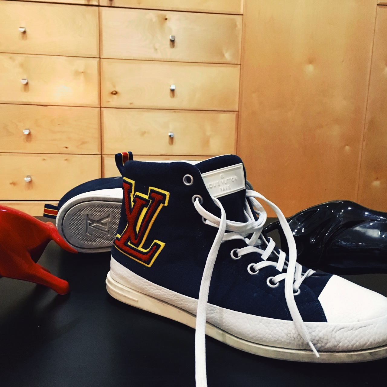 Louis Vuitton fastball sneakers blue