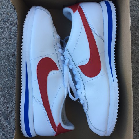 "60220c9219d3 These nike Cortez ""Forrest Gump"" shoes were only worn once a - Depop"