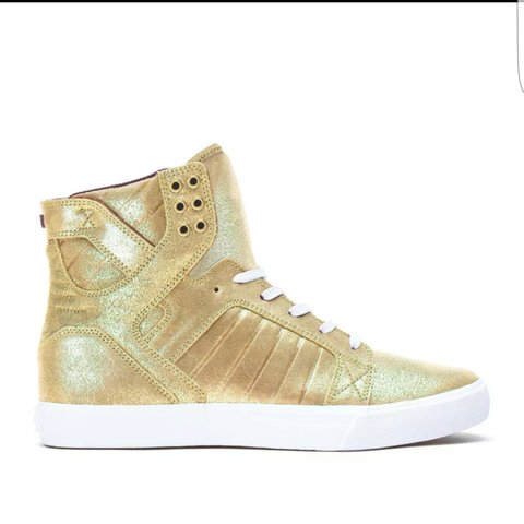 timeless design 22227 62cc0 SUPRA SKYTOP GOLD BLACK WHITE CHAD MUSKA S ICONIC A - Depop