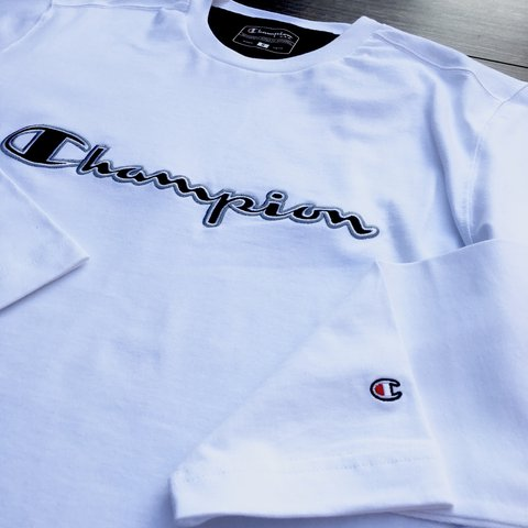d55be333 @systemf. 2 years ago. Stapleford, United Kingdom. Brand new white Champion  long sleeved tee shirt / thin sweater
