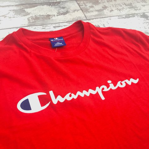 530f067d54cf Brand new red Champion tee shirt • Men's size medium (large - Depop