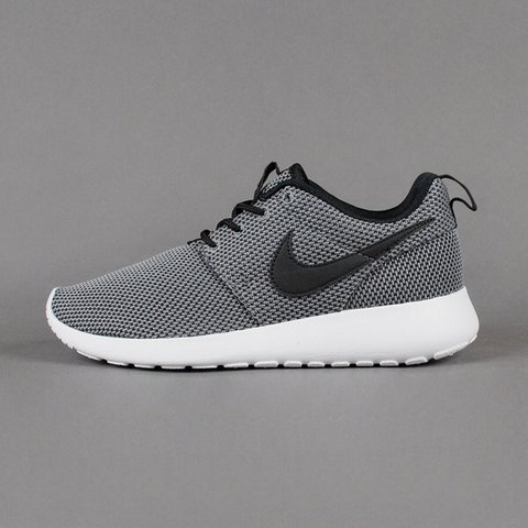 a49c964db712 Women s Nike Roshe Runs. Dark grey with black tick and White - Depop