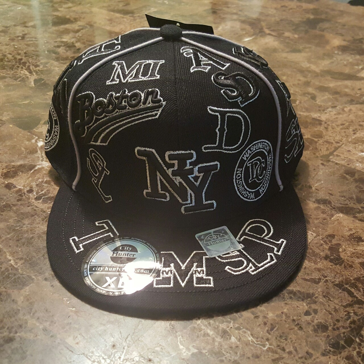Nice Fitted Cap, Black w/ Silver stitching! Multiple    - Depop