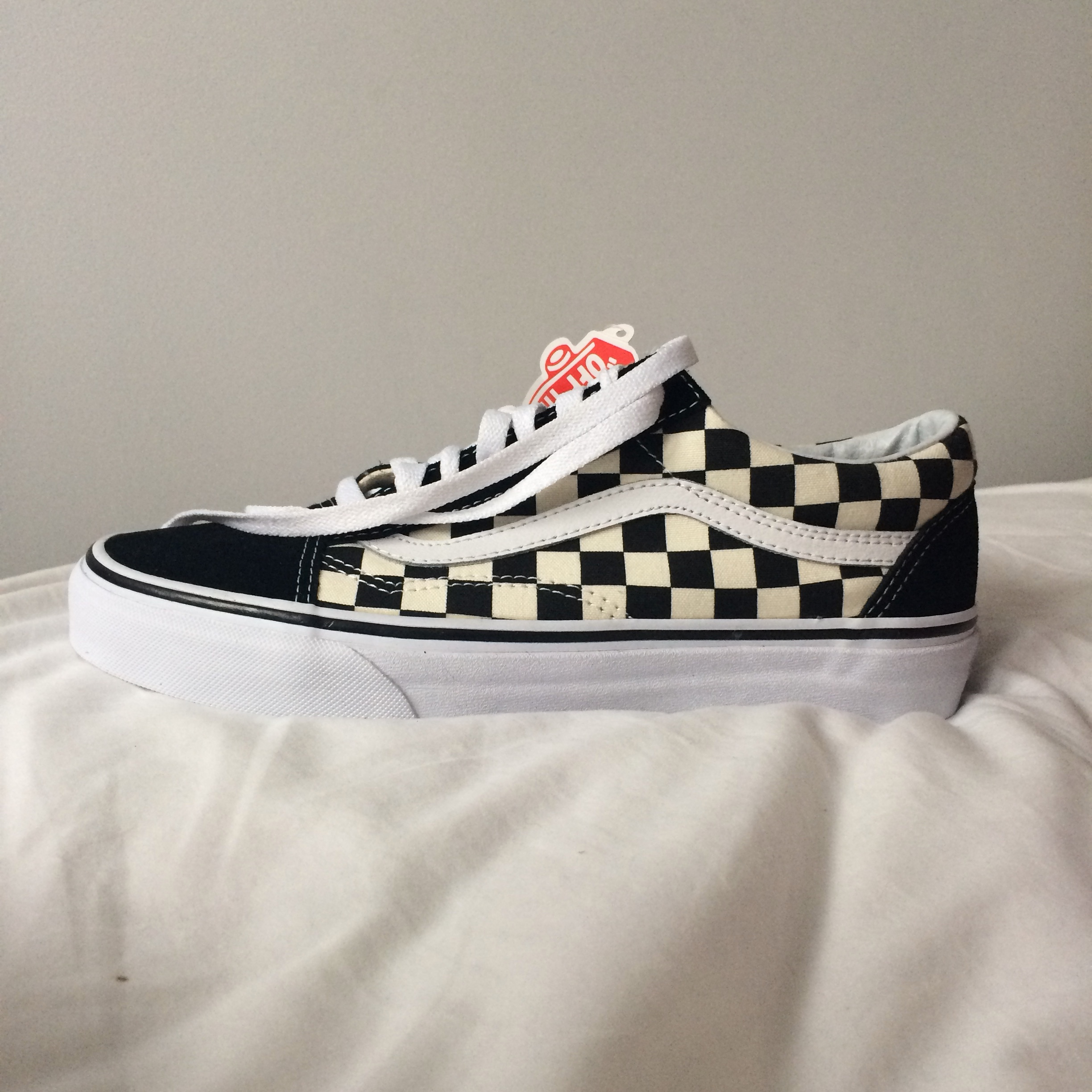 Vans Old Skool Primary Check | checkerboard | size 6 Depop