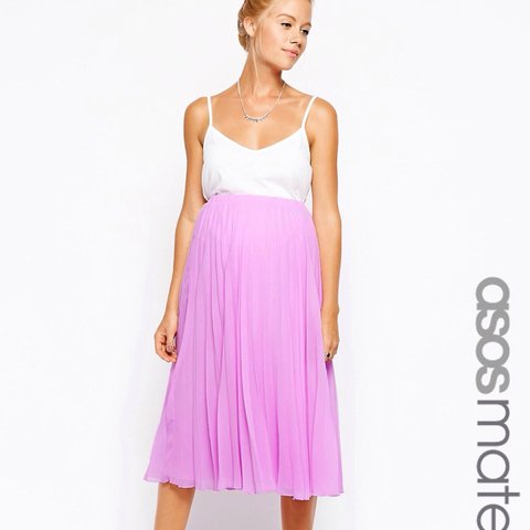 fdc41e15ed 💗 FREE UK SHIPPING || SOLD OUT ASOS pink pleated midi skirt - Depop